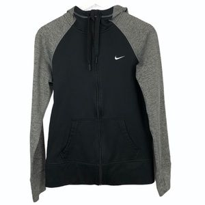 Nike Hoodie Full Zip Black Gray Heathered size S